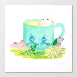 A Bean in Tea Canvas Print