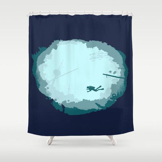 Dive Deep Shower Curtain