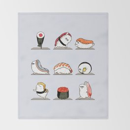Sushi Yoga Throw Blanket