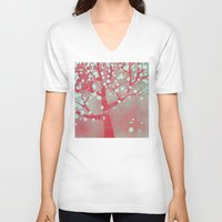 blossom V-neck T-shirts featuring Blossom by Nic Squirrell