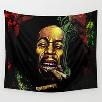 marley Wall Tapestries featuring MARLEY - MARLEY by Raisya