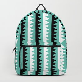Geometric Pattern #190 (teal zigzag) Backpack