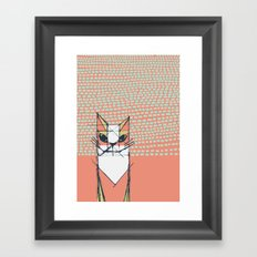 Cubist Cat Study #7 by Friztin Framed Art Print