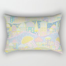 Pastel Village Rectangular Pillow