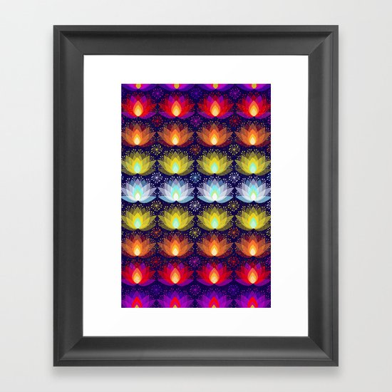 Variations on a Lotus I - Sparkle Brightly Framed Art Print