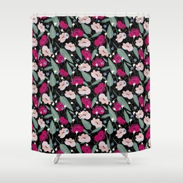 Botanical pink pattern Shower Curtain
