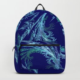 Delicate ornaments in blue Backpack