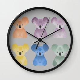 Gummy koala bears Wall Clock