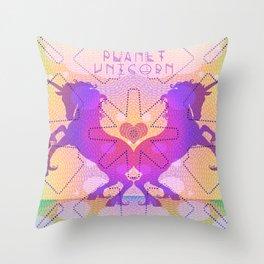 PLANET UNICORN Throw Pillow