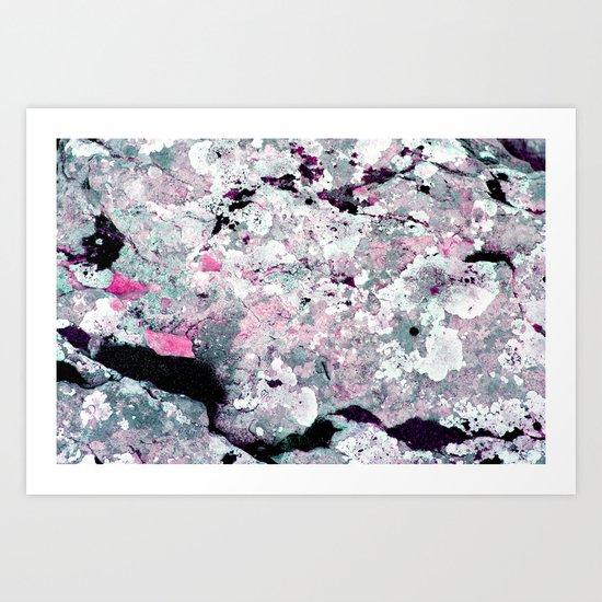 rock surface  Art Print