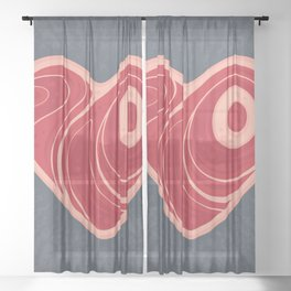 Meat Heart Sheer Curtain