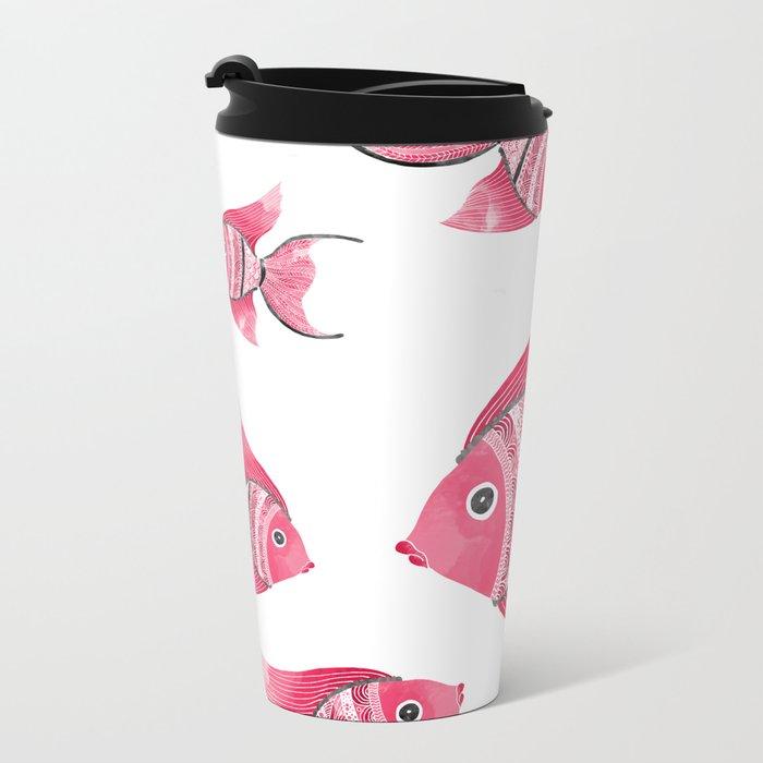 Coral fishes Metal Travel Mug
