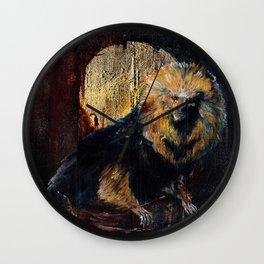 Golden Lion Tamarin Wall Clock