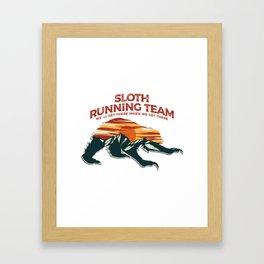 Sloth Running Team Framed Art Print
