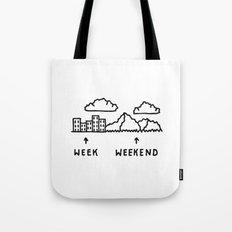 Week vs Weekend Tote Bag