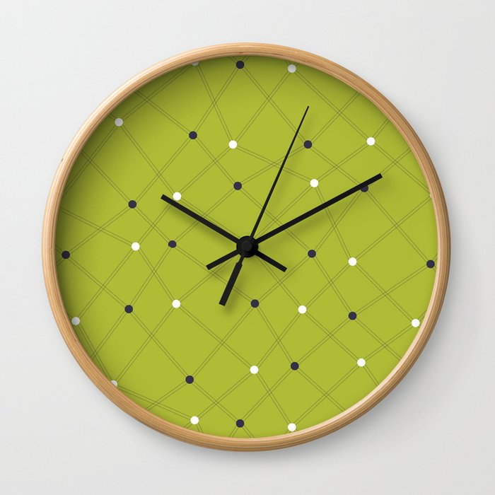 Chemistry Class Doodles - Lime Wall Clock