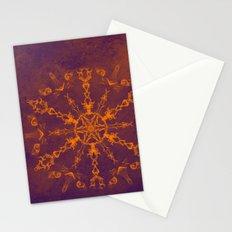 Fire wheel kaleidoscope Stationery Cards