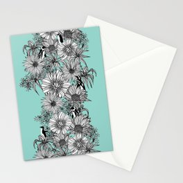 Penguins & Flowers Stationery Cards