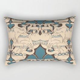 Ancient Pots & Animals By Danae Anastasiou Rectangular Pillow