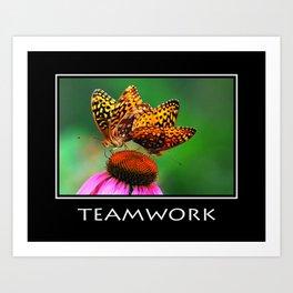 Inspirational Teamwork Art Print