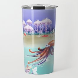 Sea Life Fairy Island,Childrens illustration Travel Mug