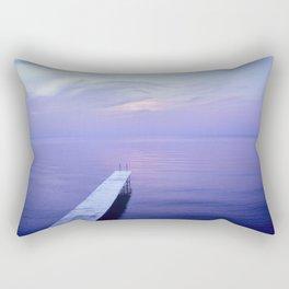 Long Dock Coastal Potography Rectangular Pillow