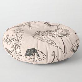 Floating Blush Garden Floor Pillow