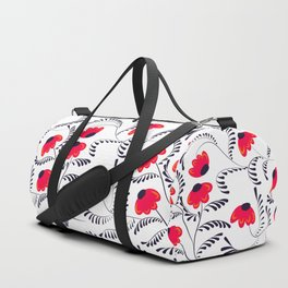 Beauty simple seamless floral pattern swirl Duffle Bag