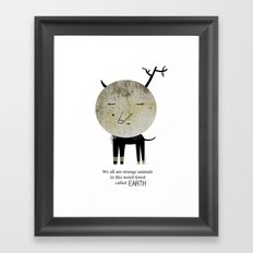 Strange Animal Framed Art Print