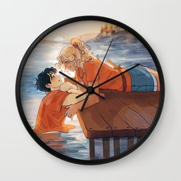 at the shore Wall Clock