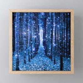 Magical Forest Bluest Blue Framed Mini Art Print