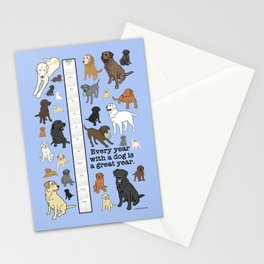 Every Year with a Dog is a Great Year - Lotsa Labs 2021 Calendar Stationery Cards