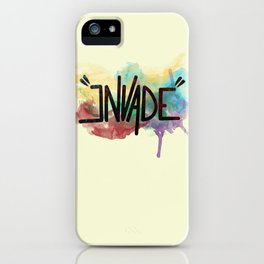 """invade"" iPhone Case"