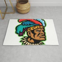 Zulu Warrior Head Mascot Rug
