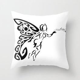 Sexy Fairy in Flight Throw Pillow