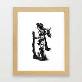 Regretful Adventurer  Framed Art Print