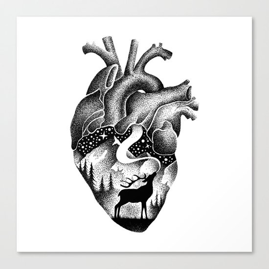 WILD HEART Canvas Print