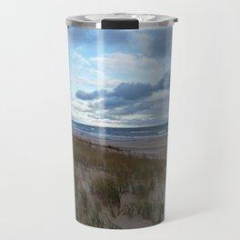 Cloudy Lake Michigan Travel Mug