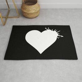 Heart Splash - White Rug