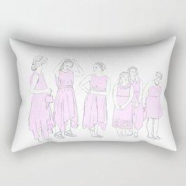 Bridesmaids (pink) Rectangular Pillow