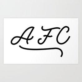 AFC Name Art Print