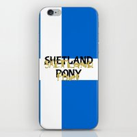 pony iPhone & iPod Skins featuring Shetland Pony by mailboxdisco