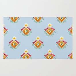 Waffles and Bacon (Robin's Egg Blue) Rug