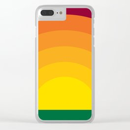 Bold Sunset Clear iPhone Case
