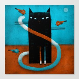 OFFSET WHISKERS Canvas Print