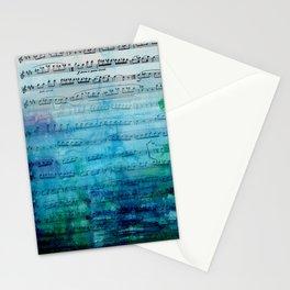 Blue mood music Stationery Cards