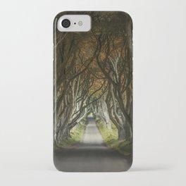 Dark Hedges alley in northern Ireland iPhone Case