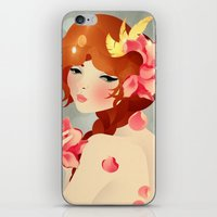 lily iPhone & iPod Skins featuring Lily by Jenny Lloyd Illustration