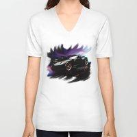 ferrari V-neck T-shirts featuring New Ferrari by JT Digital Art