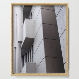 Brutalist concrete abstract - roger stevens building leeds Serving Tray